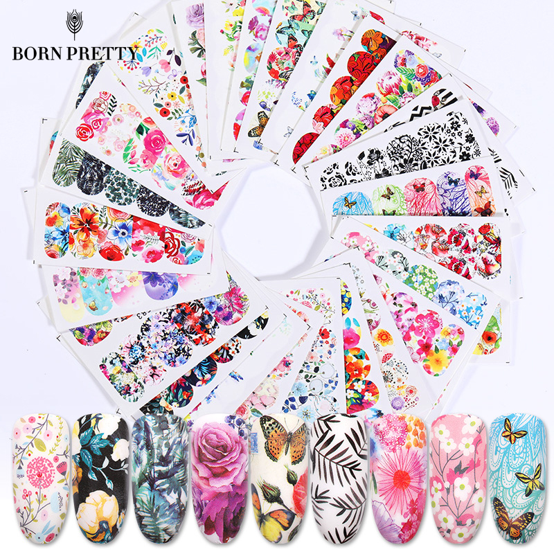 25 Pcs Nail Water Transfer Decals Stickers Set Mixed Patterns Nail Art Idea Nail Art Decoration