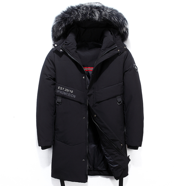 High Quality Down Jacket Keep Warm Men #8217 s Winter Thick Snow Parka Overcoat Camouflage White Black Duck 2019New Fashion 1906 cheap JUNGLE ZONE Thick (Winter) L1902 REGULAR Casual zipper Full Solid Denim NONE Button Pockets Zippers Appliques Polyester