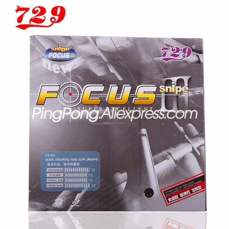 Friendship 729 Focus 3 Snipe Table Tennis Rubber Pips-In Original 729 FOCUS Ping Pong Sponge