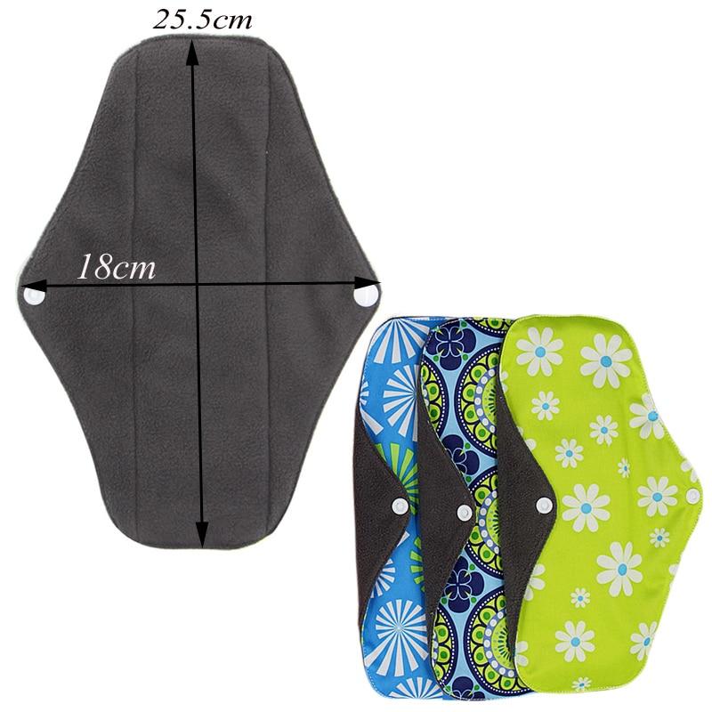 5 шт. моющийся Санитарный Полотенце тканевые менструальные прокладки многоразовые гигиенические прокладки абсорбирующие многоразовые