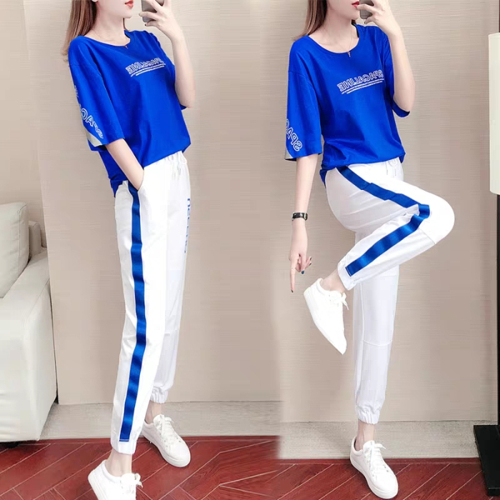 Casual Sports Suit Female New Spring And Autumn Students Loose Korean Version Was Thin And Stylish Two-piece Sweater
