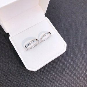 Image 2 - S925 스털링 실버 925 오리지널 럭셔리 오픈 엔드 링 Resizable Forever & Love you Charm 커플 링 Simple Fine Jewelry