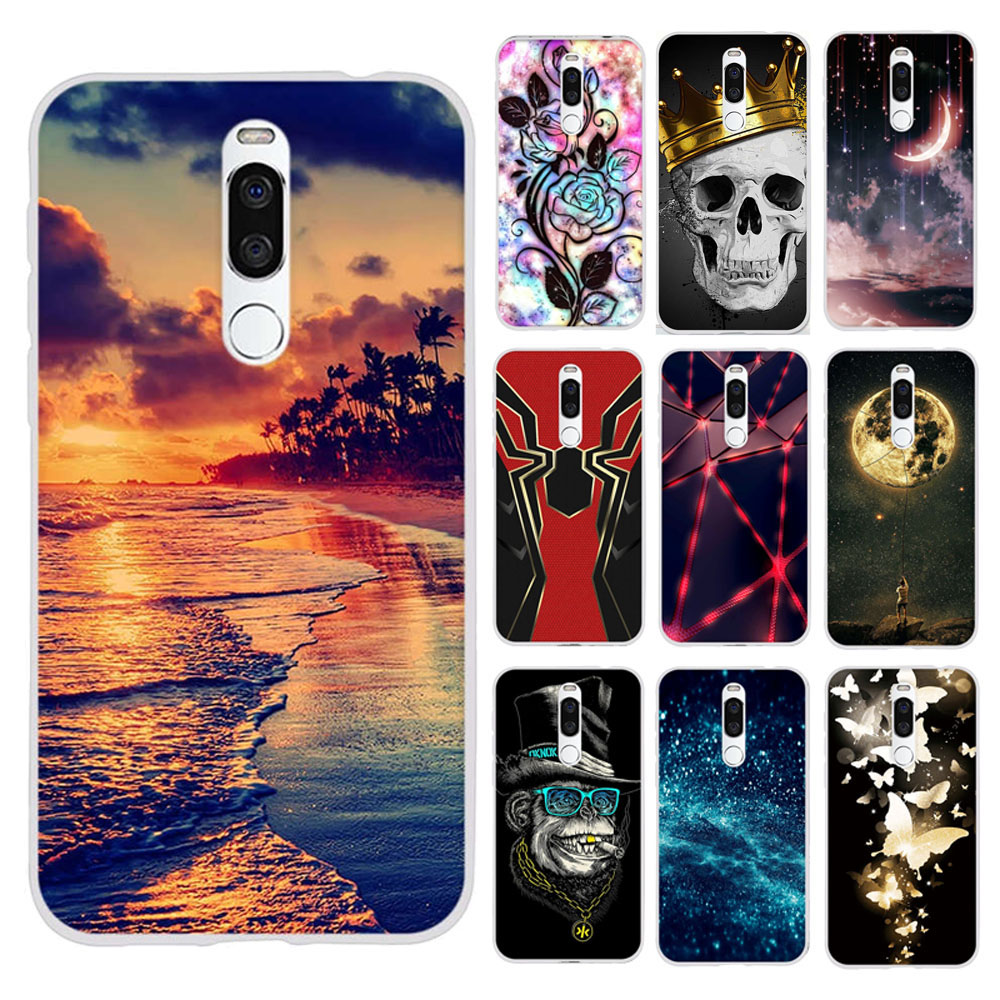 For Meizu X8 Silicone Pattern Printed Case TPU Back Protective Cover For Meizu X8 Housing Bumper For Meizu X 8 Funda Case Cover