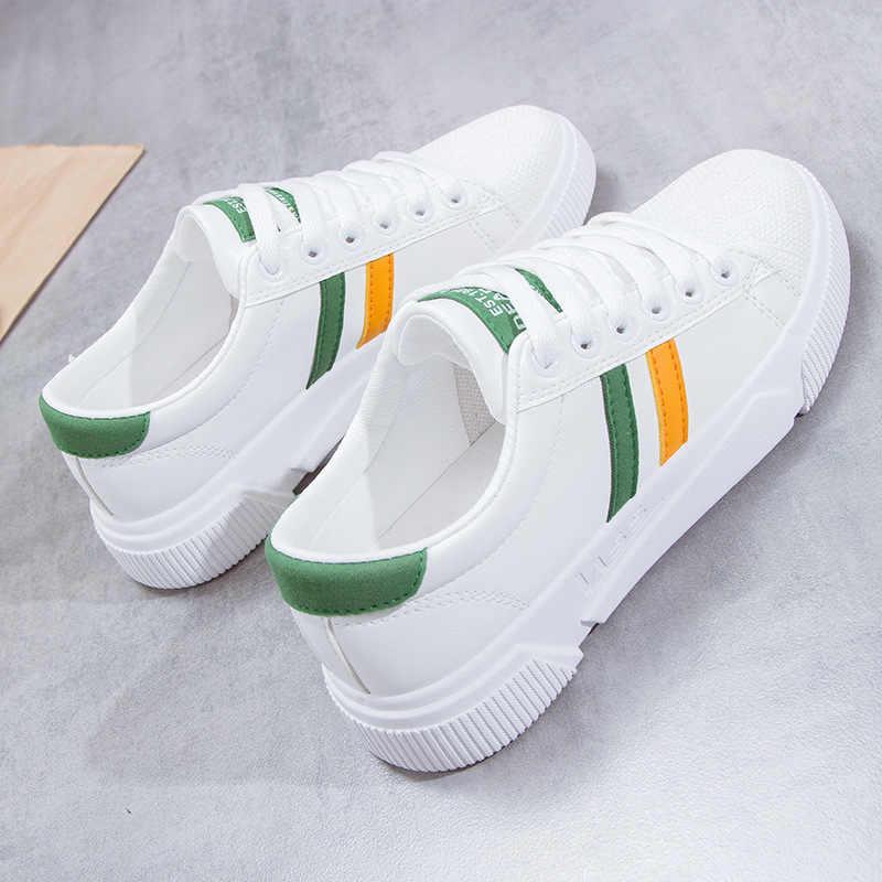 Hot 2019 nouveau respirant femmes chaussures plates femme Oxfords mode baskets de base mixte couleurs à lacets Espadrilles antidérapant