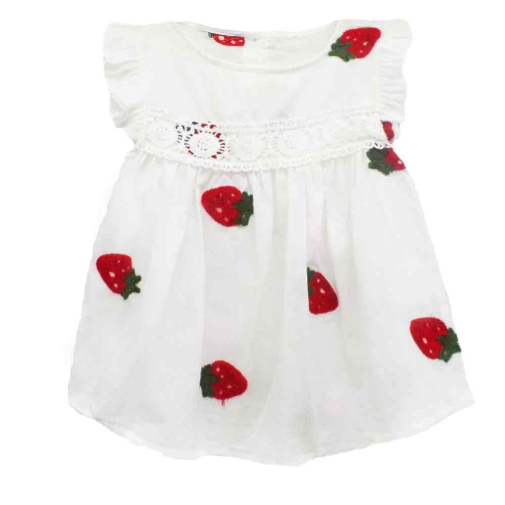 Baby Mädchen Kleidung Sommer Baby Kleid Rüsche Ärmel Neugeborenen Kleider Baumwolle Ananas Ärmelloses Kleinkind Kleider
