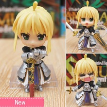 Anime Fate Stay Night Saber PVC Action Figure Collectible Model doll toy 10cm 121# japanese anime fate stay night 25cm pvc archer tohsaka rin collectible model kids toys doll brinquedos