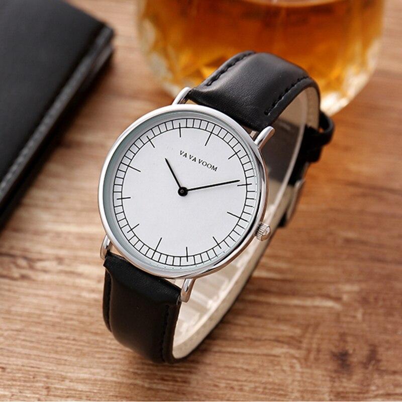 VA VA VOOM Erkek Kol Saati Simple Fashion Couple Watches Top Brand Quartz Wristwatches Lover Clock Regalo Hombre 2019 Gift