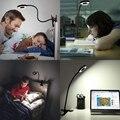 Чтение книг свет в кровати-клип на лампе с 3 яркостью  отлично подходит для прикроватной тумбочке  зеркало для макияжа  изголовье  офис  стол  ...