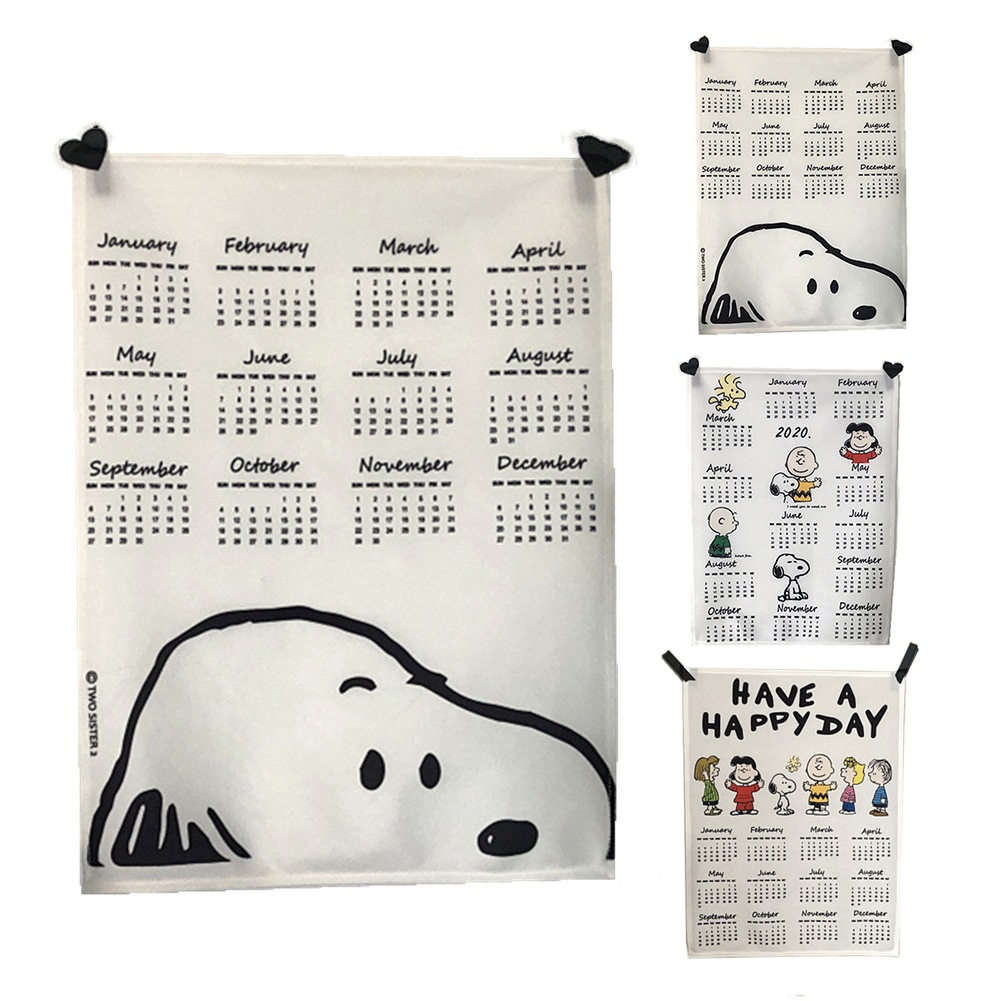 2020 Wall Calendar Cute Pattern Fabric Cloth Hanging Decoration Schedule For Home Office Bedroom, 40x50cm