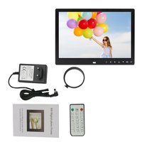 12 Inches Digital Photo Frame Electronic Picture Frame 1280*800 with Clock Calendar Remote Control Built in Speaker Resolution
