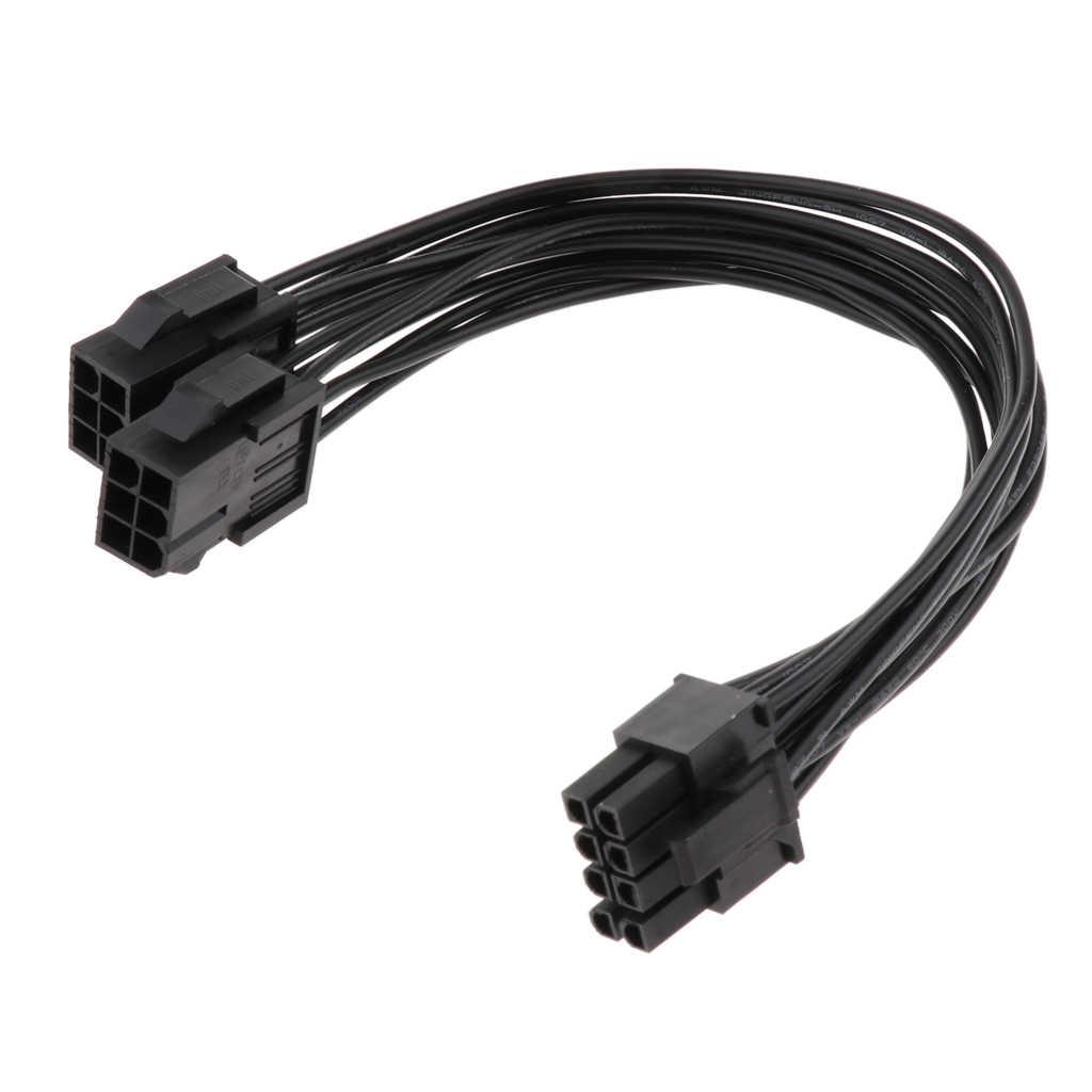 18AWG PCI-e podwójne 6 Pin do 8 Pin karta graficzna do wideo kabel zasilający