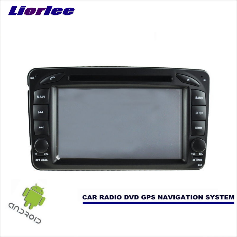 Liorlee 2din Car Android Navigation System For Mercedes <font><b>Benz</b></font> C Class <font><b>W203</b></font> 2001-2004 <font><b>Radio</b></font> Stereo GPS <font><b>Navi</b></font> HD Screen image