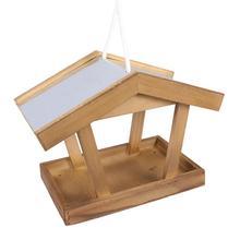 Alimentador para pájaros colgante de madera, alimentador para exteriores, alimentador ecológico de madera sólida, Nido de Pájaro creativo, cama para pájaros colgante de estilo Vintage, 1 unidad