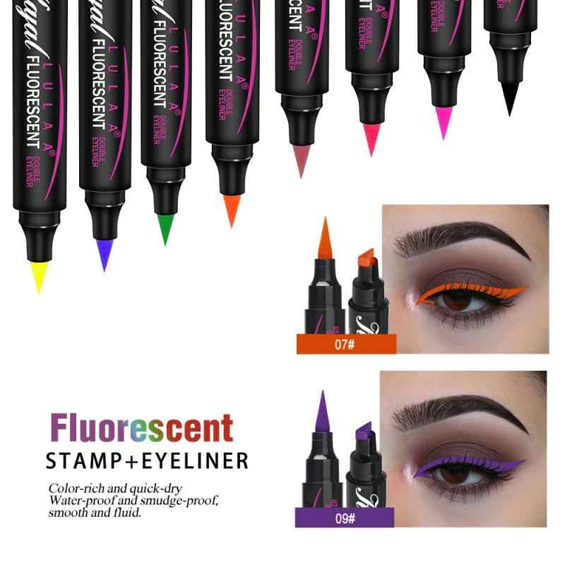 Augen Make-Up Wasserdicht Neon Bunte Flüssigkeit Eyeliner Pen Make Up Comestics Lange-lasting Eye Liner Bleistift Make-Up-Tools NEUE TSLM1