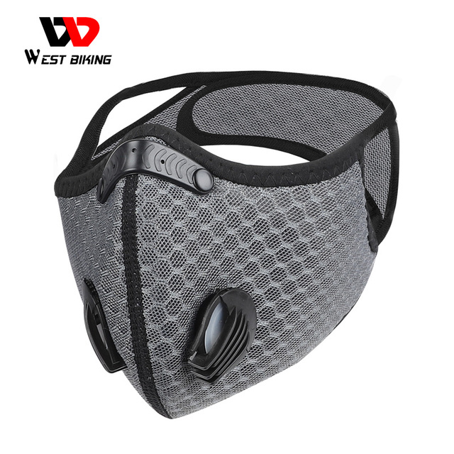 WEST BIKING Sport Face Mask MTB Bike Training Mask PM2.5 Anti Pollution Activated Carbon With Filter Washable  Cycling Mask 1
