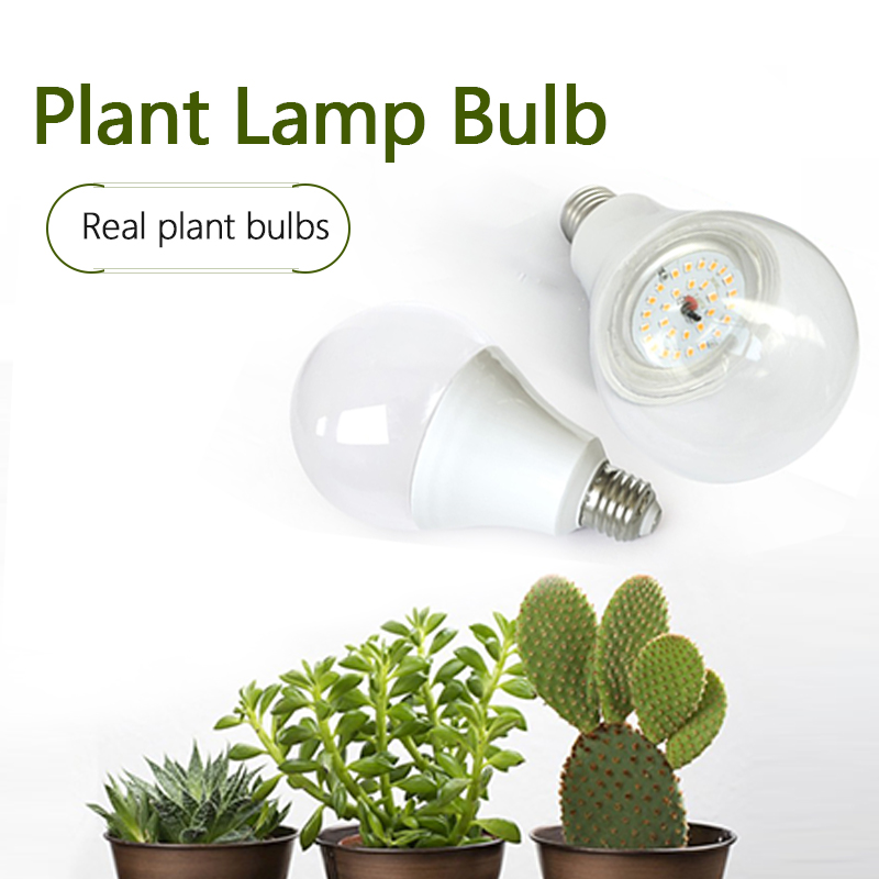 Plant Growth Lamp LED15W Full Spectrum Plant Fill Light Bulbs Imitation Sun Flower Growth Lights Succulent Growing Lamp