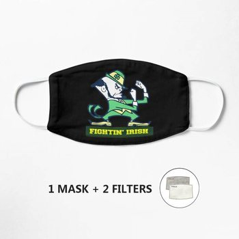 FIGHTIN'#39; IRISH Mask Women Mens Kids 3d Funny Mouth Mark Cover Facemask Washable Hip Hop Party Magic image