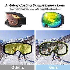 Image 3 - COPOZZ lunettes de Ski magnétiques avec lentille à changement rapide 2s et ensemble de boîtiers UV400 Protection Anti buée Snowboard lunettes de Ski pour hommes femmes