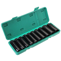 Hexagon Extended Socket Wrench Drive Deep Impact Sleeve Heavy Metric Garage Tool for Wrench