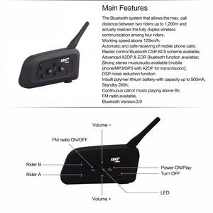 Image 5 - Intercomunicador Bluetooth V4 Pro BT impermeable, auriculares para motocicleta, casco, comunicador, 4 conductores, 1200M