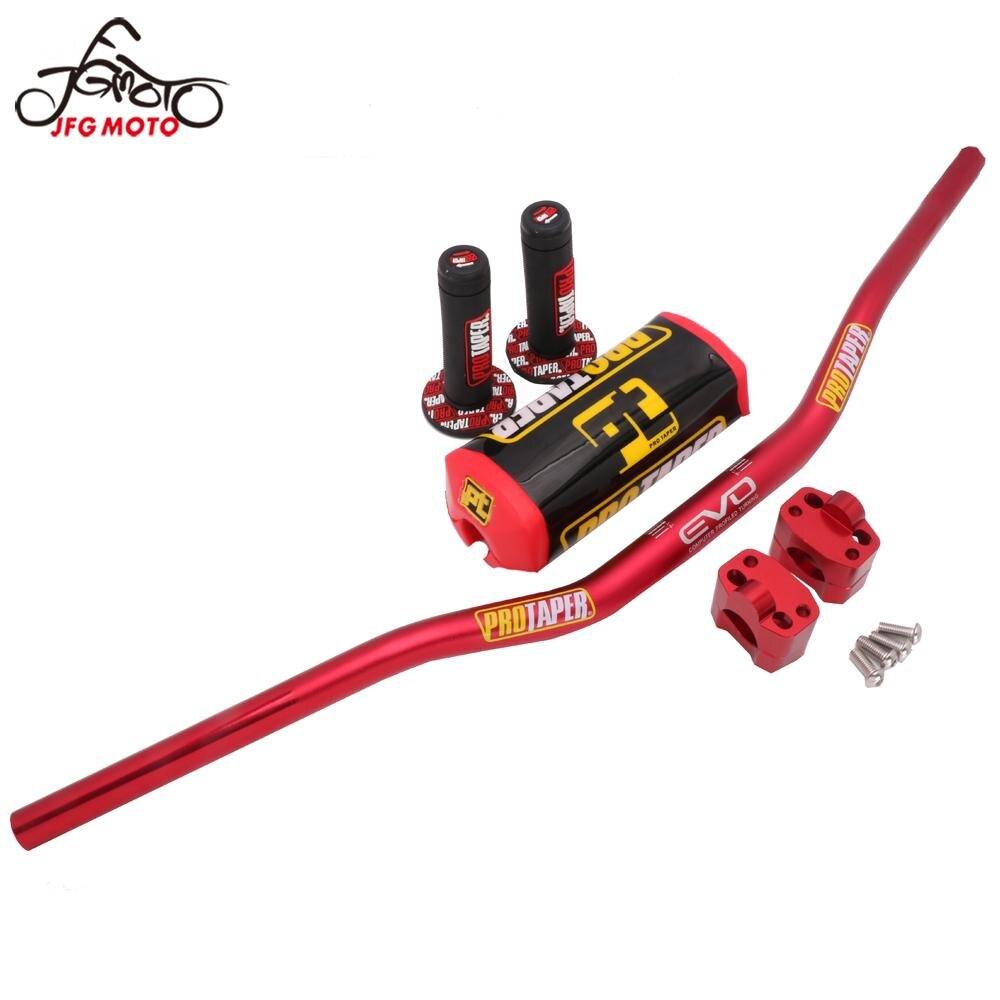 Handlebar Grips Pads Taper Pack Fat Bar 28mm 1-1 8inch Dirt Pit Bike Motocross Motorcycle Steering Wheel 810mm length aluminum