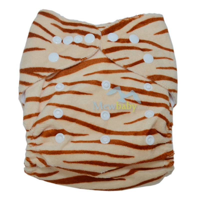 PUL Waterproof Breathable Minky Baby Cloth Diaper With 1pc 3-layer Microfiber Diaper Insert FR1