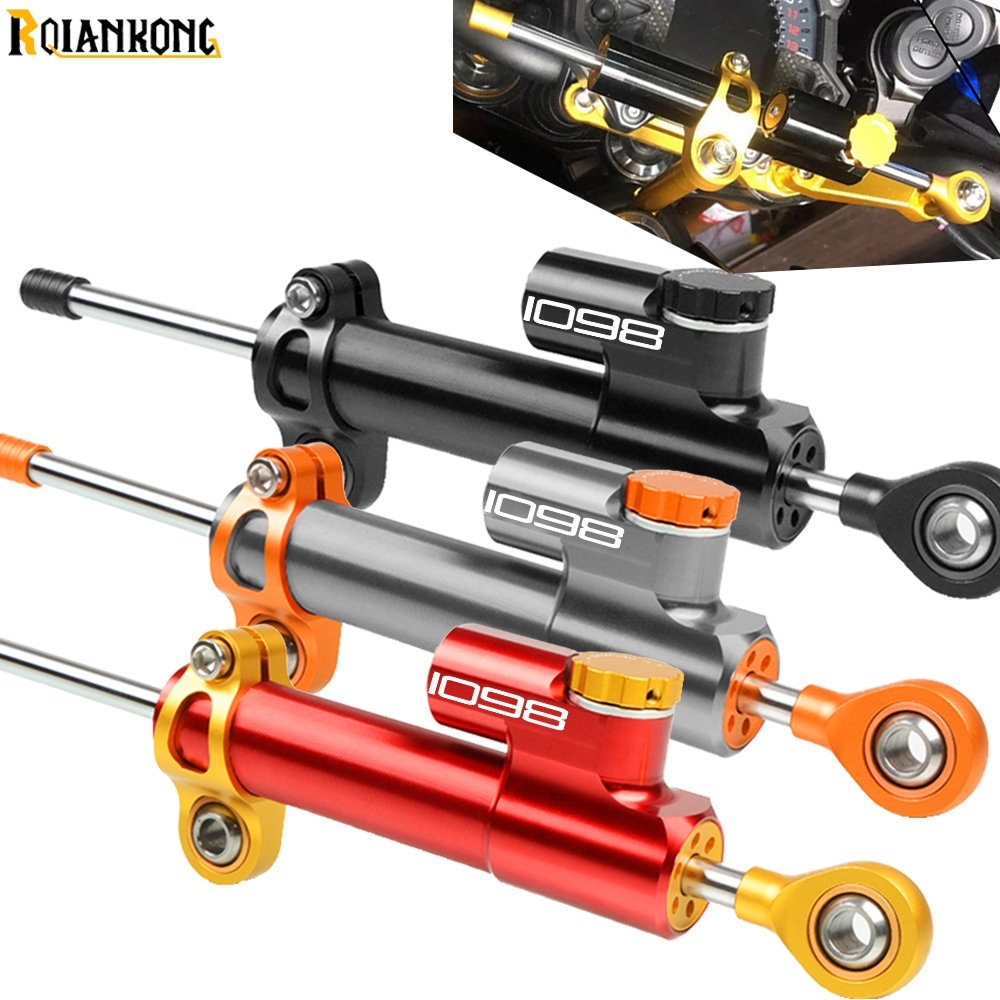 Motorcycle Damper Steering StabilizerLinear Reversed Safety Control Over For <font><b>DUCATI</b></font> <font><b>1098</b></font>/S/TRicoloR <font><b>1098</b></font> 2007 200 2009 2010 2011 image