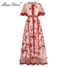 Женское Сетчатое платье moaayina летнее с расклешенными рукавами