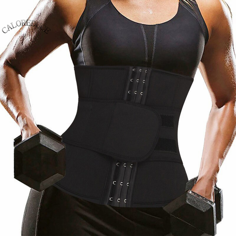 Neoprene Waist Trainer Hot Sauna Body Shapers Women's Slimming Work Out Shapewear Velcro Underbust Waist Cinchers Tummy Fat Loss
