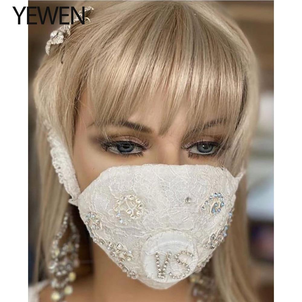 Lace Wedding Dress With Masks Bride Dusk Mask YEWEN
