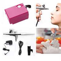 Airbrush Make-Up-Kit Mit Mini Luft Kompressor Single Action Aerograph Set Temporäre Tattoo Gesicht Körper Malen Nail-art Luft Pinsel set
