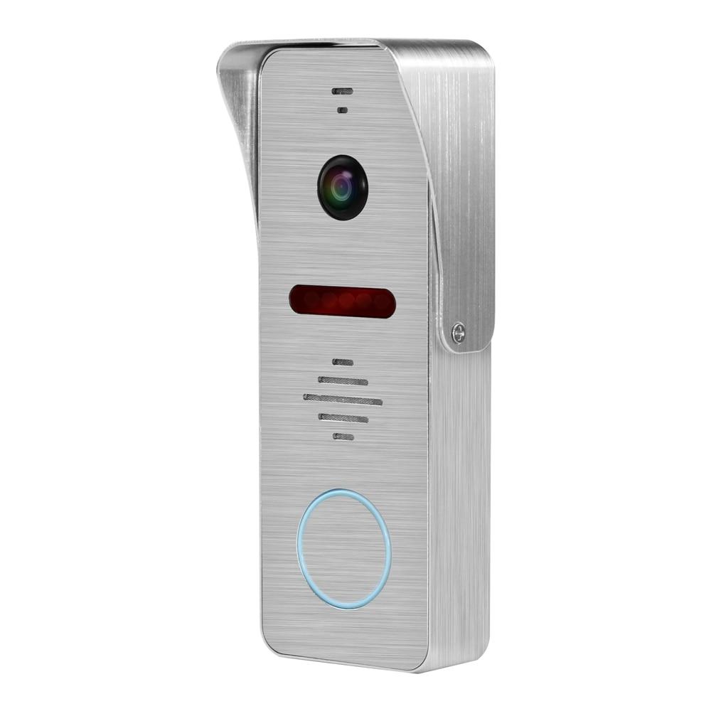 HomeFong Wired Doorbell Call Panel 130 Degree Angle 1200TVL Aluminium Alloy IR Night Vision Door Phone Camera For Video Intercom