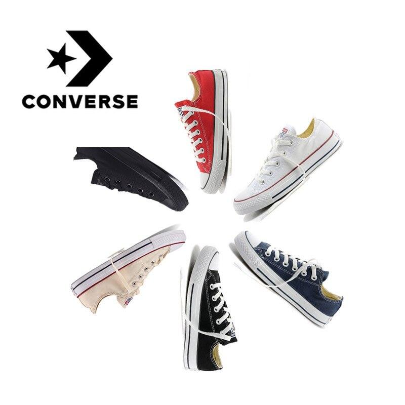 Autêntico converse all star clássico respirável lona baixo-topo sapatos de skate unisex anti-escorregadio tênis cor múltipla