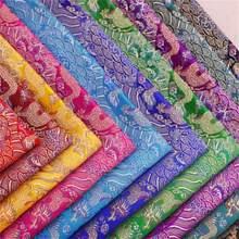Brocade Jacquard Stof Satijnen Stof Met Draak Patroon Materiaal Voor Cheongsam En Kimono