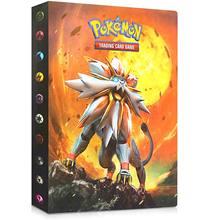 Tomy pokemon cartões álbum livro legal 240 pçs anime colecionadores de cartão jogo comércio gx ex caixa de cartão titular pasta crianças presente brinquedo