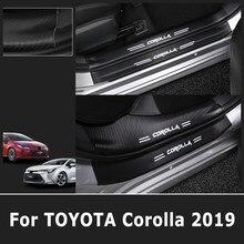 Protetor traseiro de fibra de carbono, para toyota corolla 2019 geração 2020, acessórios interiores e externos para carro