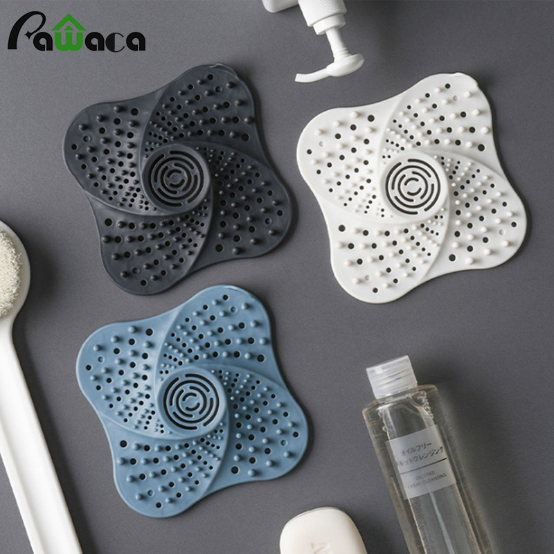 Anti-blocking Hair Catcher Hair Stopper Plug Trap Shower Floor Drain Covers Sink Strainer Filter Bathroom Kitchen Accessories