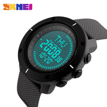 цена на SKMEI Outdoor Sports Watches Men Multiple Digital Compass Multiple Time Zone Watch 50M Waterproof  Alarm Wristwatches 1216