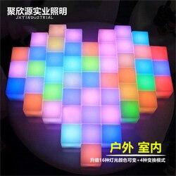Lámpara LED recargable 24 teclas de Control remoto 40*40*40cm silla SMD 5050 RGB LED cubo silla impermeable LED RGB envío gratis