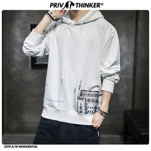 Privathinker Men Woman Autumn New European Style Castle Print Hooded Sweater 2019 Mens Street-Style Hoodies Male Sweatshirts 5XL(China)