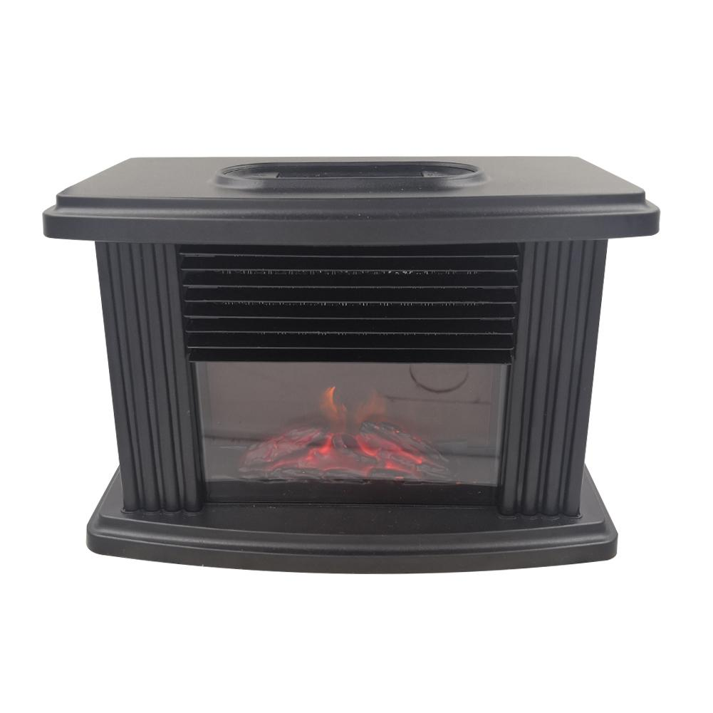 Mini Electric Fireplace Stove Portable Tabletop Indoor Space Heater 1000W Household Electric Heater Winter Desktop Air Warmer