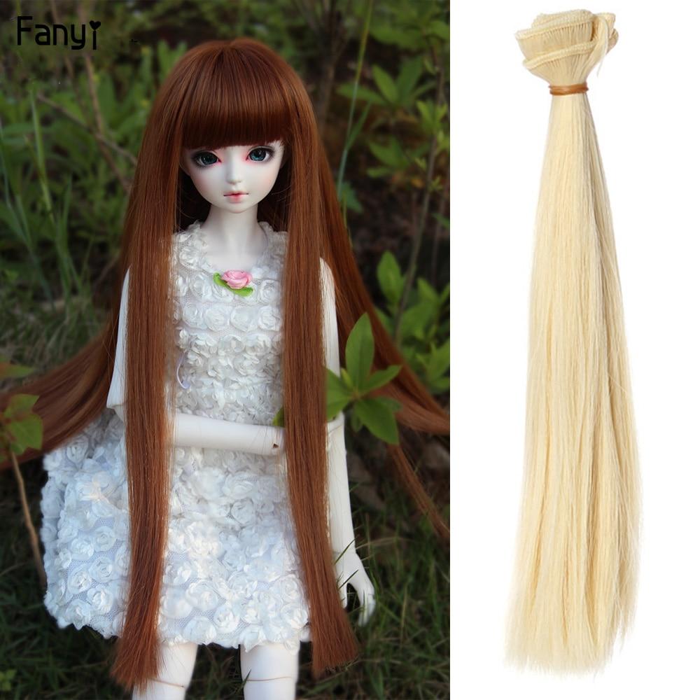 "New 1//8 Girl BJD Doll Wig Dollfie 5/"" DZ DOD LUTS Bjd Doll Wig Long SD Wig #1-#21"