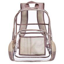 Fashion Transparent PVC Backpack Travel School Book Bag Daypack Rucksack for Teenager Girls