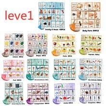 Детские развивающие игрушки, 26 групп, 760 карт, английские, бумажные карты