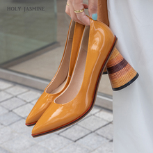 Unusual Heel High Slip-On Pumps Women Pointed Toe Zip Footwear Patent Leather Shoes Female Mules Shoes Woman Spring 2020 New she era slip on women pumps elegant high heel shoes pointed toe silk ladies shoes woman 2017 d orsay