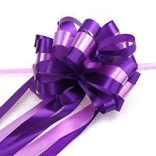 Bruiloft Linten 5Pcs Pull Bow Linten Baby Shower Birthday Party Wedding Decor Gift Verpakking Home Decor Diy Auto Bloem lint, Q