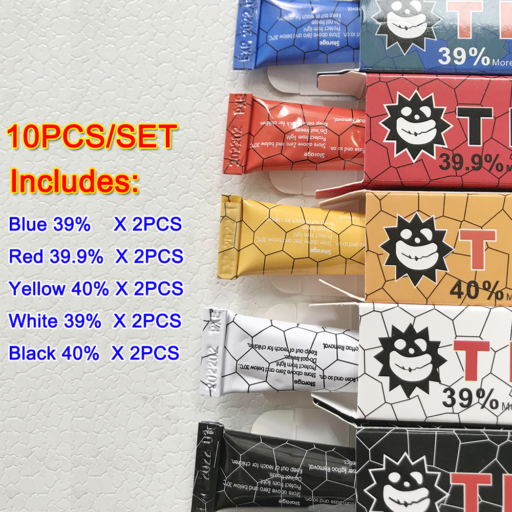 10pcs Tktx Tattoo Cream For Permanent Makeup Eyebrow Lips Eyeliner 10g