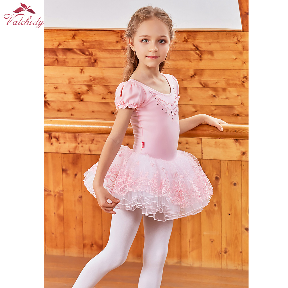 Розовое балетное платье пачка с короткими рукавами для девочек, танцевальные костюмы, балетные танцевальные костюмы для детей, юбка с вышивкой|Балет| | АлиЭкспресс