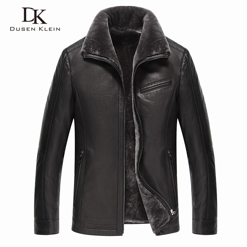 Men Genuine Leather Jackets Brand 2019 New Men Wool Liner Winter Warm Coats Luxury Male Cow Leather Outerwear