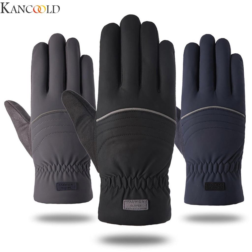 KANCOOLD Thermal Ski Gloves Men Women Winter Skiing Fleece Waterproof Snowboard Gloves Touch Screen Snow Motorcycle Warm Mittens